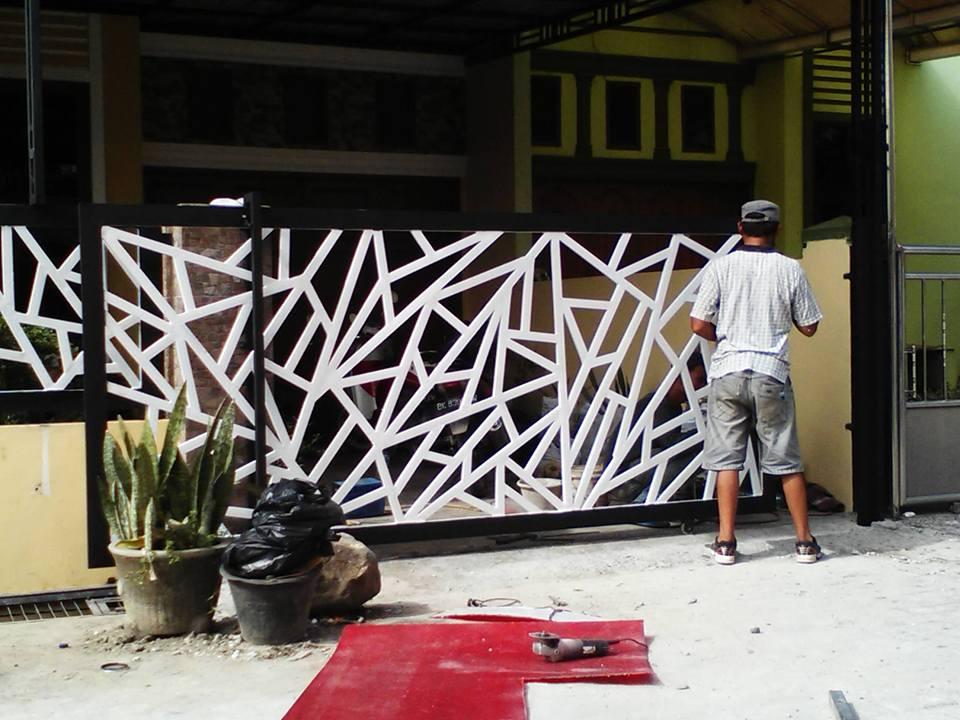 Pagar Rumah Abstrak BSD Tangerang - KANOPI BSD